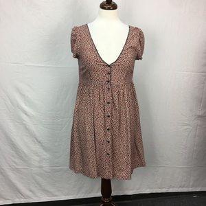 Denim & Supply Pink Floral Print Button Dress